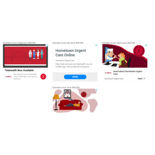 display ads for urgent care company