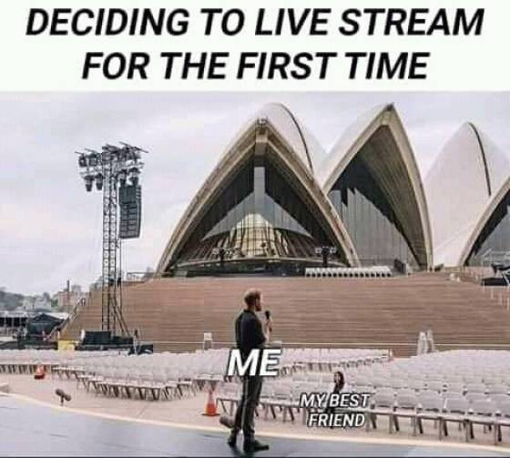 First live stream audience
